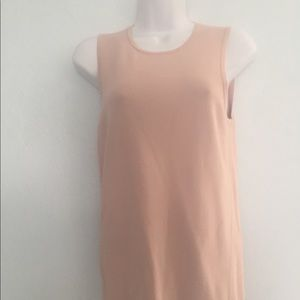 Light Beige with a Rosy Tint Tank Top Ann Taylor